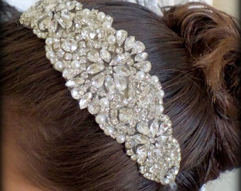 Bridal Headband - Wedding Headband - Bridal Headpiece- Bridal Hairpiece - Simply Beautiful