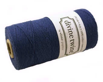 SOLID Bakers Twine 240 yard spool - NAVY BLUE - string for crafting, gift wrapping, packaging, invitations