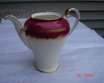 PRICE REDUCED- Antique Aynsley English Bone China Teapot - Beautiful