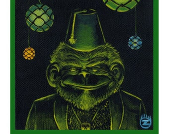 The Greeter - Tiki Bar Chimp Cocktail  8x10 Print