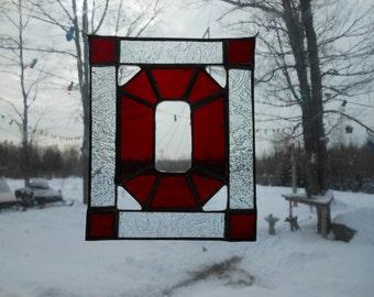 Ohio stained glass suncatcher