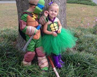Ninja Turtle Inspired Tutu Dress, Halloween Costume, Birthday Party dress, or Dress Up