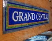 NYC Subway Style Mosaic - Grand Central Subway Mosaic Sign or Install - New York City