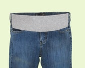Maternity Jeans, Roxy brand, converted to maternity, underbelly band, upcycled recycled