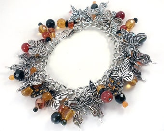 Mighty Monarch Butterfly Charm Bracelet