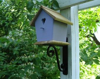 Steel Scroll Birdhouse Support