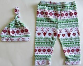 Baby Christmas Outfit My first christmas Pajamas Christmas Leggings Baby Leggings Set 1st Christmas Ugly Christmas Sweater Christmas Hat