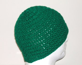 SOLID Green Unisex Crochet Beanie Youth/Adult, Football, Sports, Game