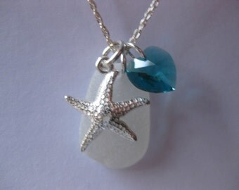 Sterling  Seaglass Pendant  Birthstone SS Sea Glass Pendant Sea Glass Jewelry Beach Glass Jewelry Handmade, Custom Jewelry