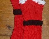 Fingerless Christmas Gloves