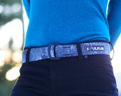 Fat Nylon Belt -  Gray Digital Camo
