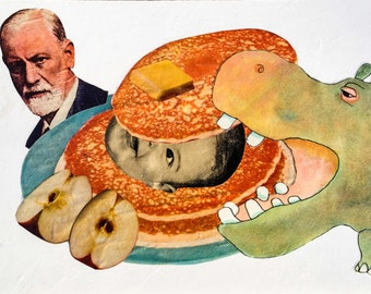 Breakfast With Freud - Original Collage