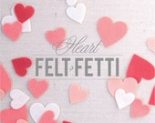 Small Felt Hearts // Felt-fetti // Heart Die Cuts, Valentine Party, Garland Kit, Heart Confetti, Felt Shape, Craft Embellishments, Felt Love