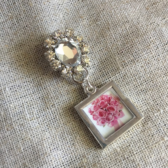 Wedding Bouquet Pin - Vintage Inspired Style Petite atwo Sided