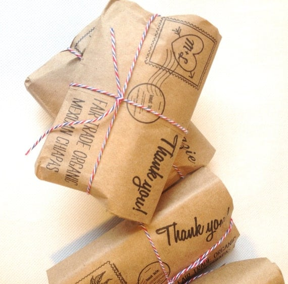 Coffee Wedding Favors Unique Airmail Design For Destination