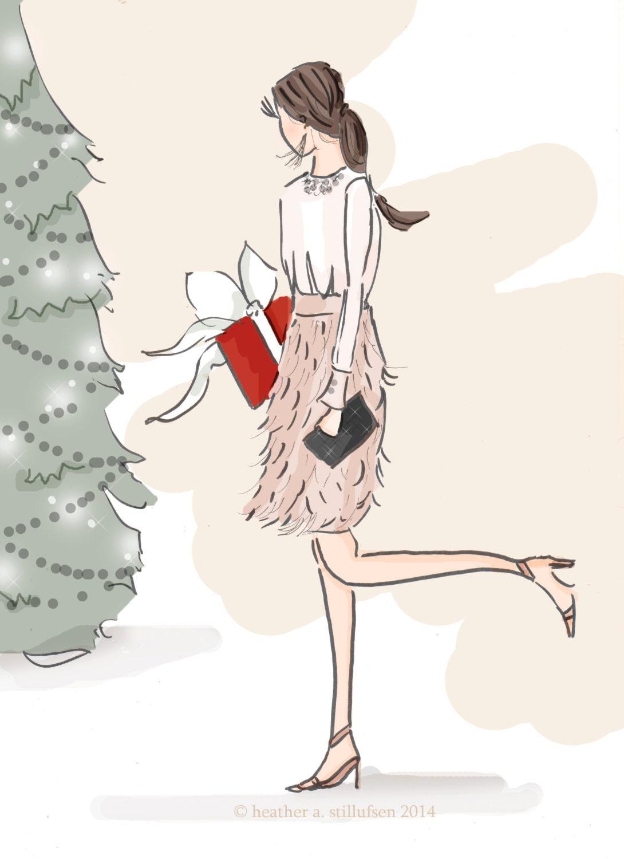 Fashion illustration christmas