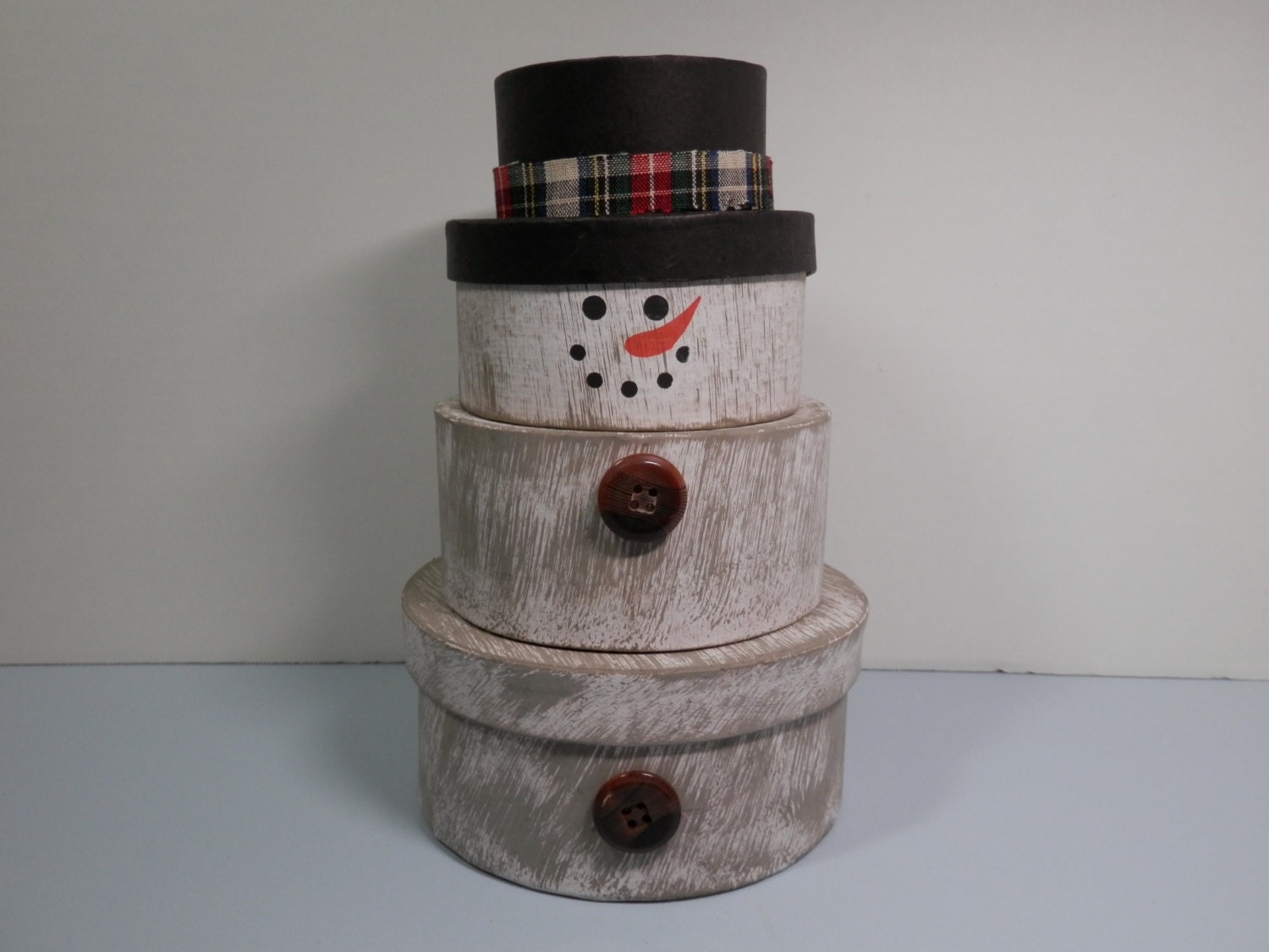 Pc Round Snowman Nesting Stack Box Set Trinkets Notions By 2lewa. Full resolution‎  image, nominally Width 1500 Height 1125 pixels, image with #5E4B46.
