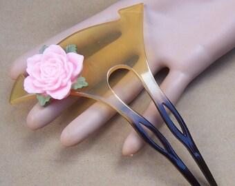 Vintage hair comb geisha Japanese kanzashi hair pin hair pick hair slide hair accessory hair jewelry hair ornament headdress  (DU)