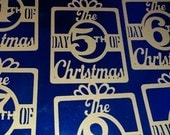 12 Days of Christmas ornament set of 12