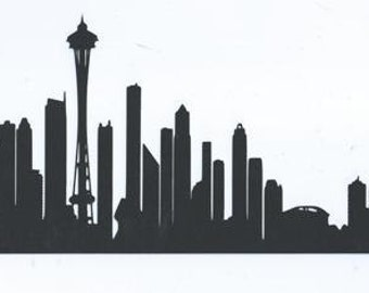 Seattle skyline silhouette