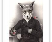 Mr Christmas Fox  - A4 print