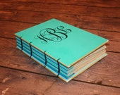 Monogrammed Journal, Custom Guest Book, Notebook, Gifts for her, Personalized Gift, Baby Shower Gifts, Coptic stitch, Monogrammed Gifts