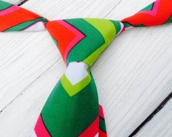 Boys Christmas Tie, Boys Red Tie, Boys Green Tie, Boys Chevron Tie, Boys Holiday Tie, Baby Tie Photo Prop, Cake Smash Tie, Baby Tie