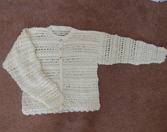 Hand Crocheted Ladies Sweater