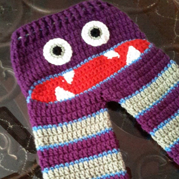 Baby Monster pants Free US ShippingCrochet by ...