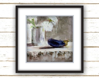 Eggplant - Large Home Decor Wall Art Print