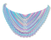 Crochet pattern : Pearls and the Mermaid Shawl