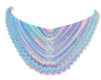 Crochet pattern : Pearls and the Mermaid Shawl