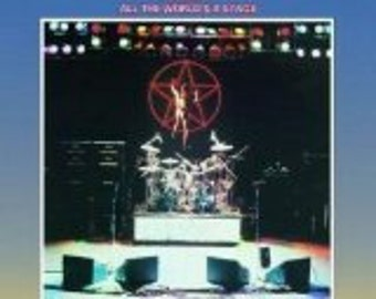 Near Mint - Rush - All the World a Stage  - Original Editiion - Record LP in Near Mint Minus Condition