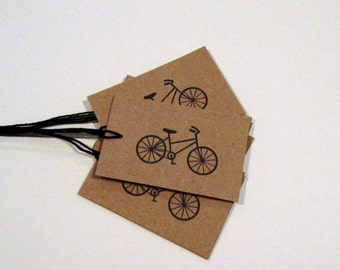 Kraft Cardstock Bicycle Gift Tags,  Bicycle Pricing Tags, Bicycle Favor Tags