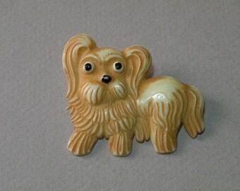 Vintage Puppy Brooch