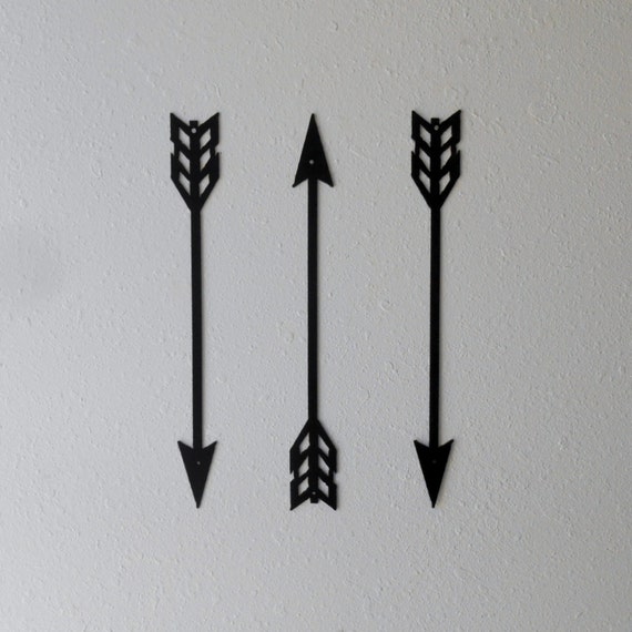 Arrows Metal Art Wall Decor Set Of Three By