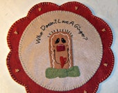 Who Doesn't Love A Ginger? Wool Applique Table Mat Pattern