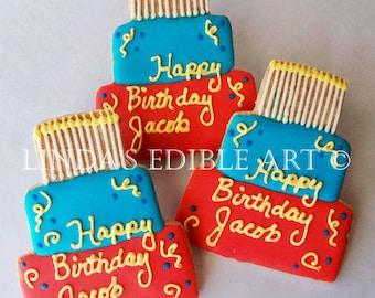 Birthday Boy Cookie 1 Dozen (12)