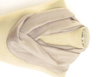 Champagne Infinity Scarf - Gold Cowl - Tan Infinity Scarf