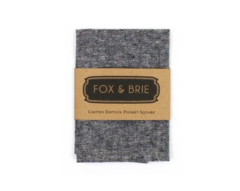 Charcoal Chambray Pocket Square