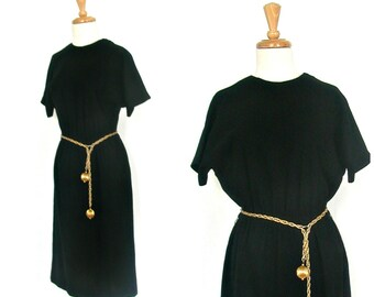 1960s LBD - 60s dress - shift dress - wiggle dress - sheath - mad men - medium