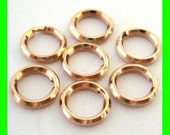 20pcs 6mm 14k gold filled split jump rings charm connector key chain style Gr36