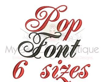 Script Embroidery Font - BX Machine Fonts PES Monogram Designs - 6 Sizes - Instant Download