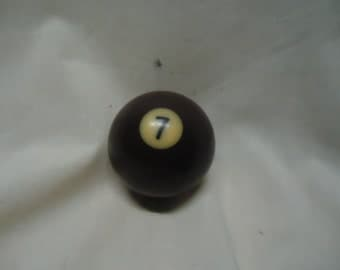 Vintage Pool Ball 7 number seven solid  billiard, collectable