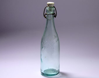 Vintage Glass Beer Bottle with Blob Top by Otis S. Neale Co. - circa 1899