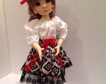 Summer dress ensemble for BJD MSD  modeled by KW Essie