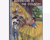 Vintage Bobbsey Twins Book, Adventure in the Country, Book 2, Hard Cover from the 1960s to Collect, Upcycle, Read