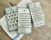 Set of 3 Vintage Tin Food Shredders