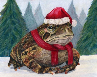MistleToad 2014 Giclee Print on Paper - 5x7 matted to 8x10