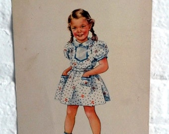 Dick and Jane Large Flash Cards - Double sided Betty flashcard - teaching materials - Vintage flashcards
